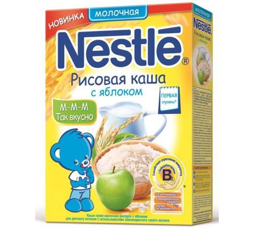 nestle Ккаша рисовая молочная с яблоком (250 гр.) первая ступень