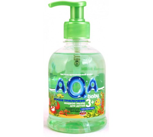 """80.19 aqa baby sapun lichid pentru copii 3+ """"aventurile la mare"""" (300 ml.)"""