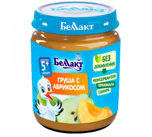 Детское питание в Молдове Беллакт Пюре из груш и абрикос 100 гр. (5 м. +)