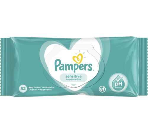 pampers servetele umede sensitive 52buc, 7387