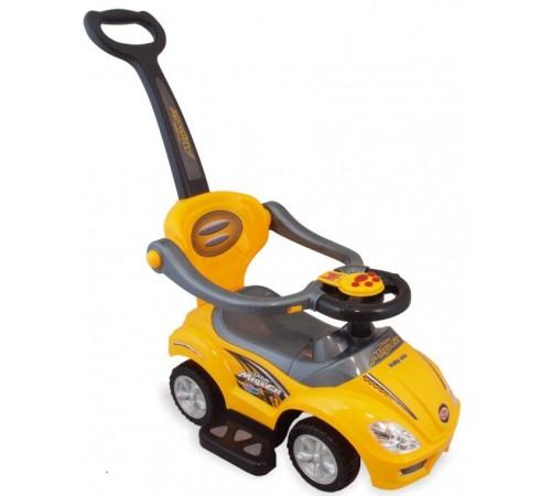baby mix ur-z382 yellow Машина детская с ручкой 2-в-1