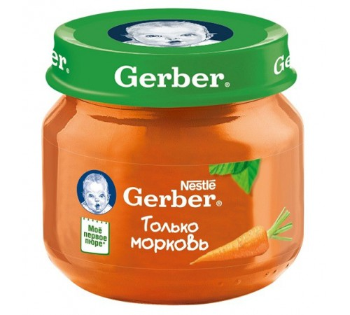 Детское питание в Молдове gerber Пюре из моркови 80gr.(4+)