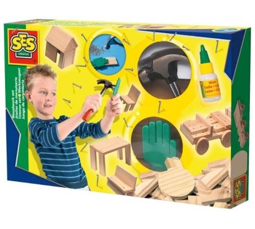 "Детскиймагазин в Кишиневе в Молдове ses creative 00943 Набор юного плотника ""woodwork"""