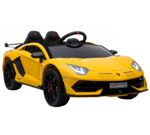 chipolino mașină cu baterie elklasvj04y lamborghini aventador svj galben