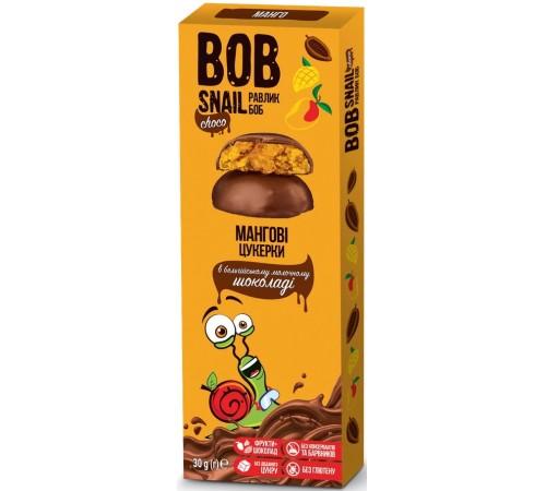 """bob snail Натуральные конфеты """"Манго"""" в бельгийском молочном шоколаде (30 гр.)"""