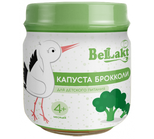 Беллакт piure de broccoli (4 m +) 80 gr.