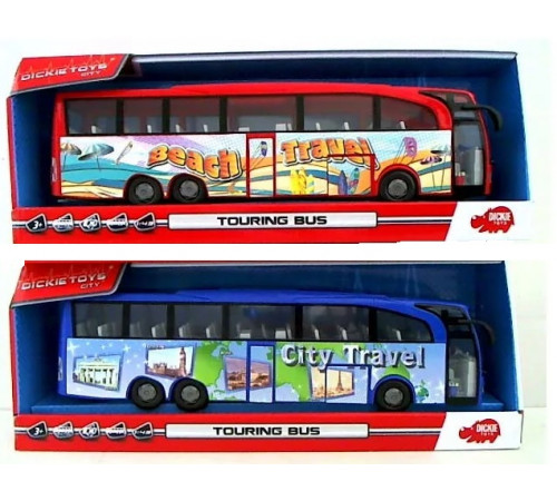 """dickie 3745005 Игрушка """"Туристический автобус"""" в асс."""
