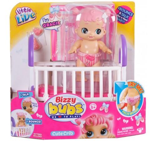 """little live pets 28475 Интерактивная куколка bizzy bubs """"Грейси с кроваткой"""""""