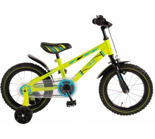 "volare 71434 bicicleta ""electric 14"" green"