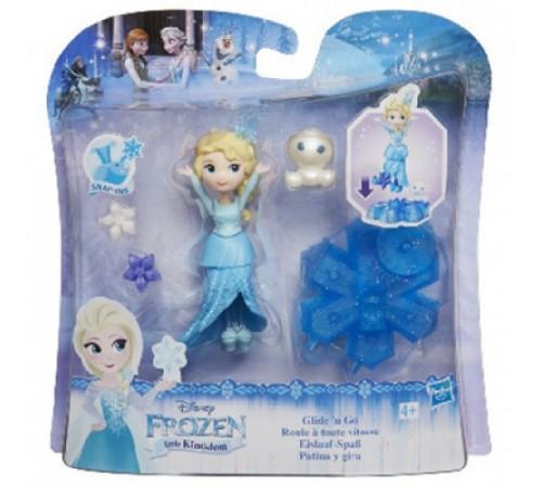 frozen b9249 Маленькая кукла  на движущейся платформе-снежинке