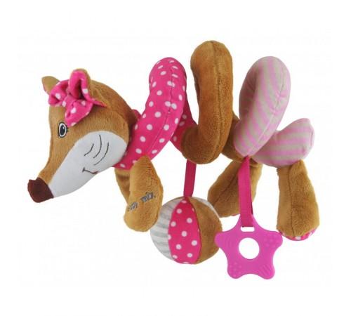 """baby mix stk-17511p Спираль для коляски """"Лиса"""" розовая"""