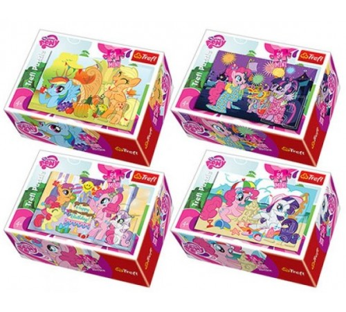 "trefl 54128 Пазлы- мини ""my little pony"" (54 эл.) в асс."