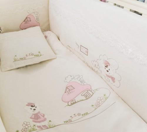 Mobila pentru camera copiilor de vanzare in Chisinau-Baby-Boom.md  in Moldova show baby lenjerie de pat roz