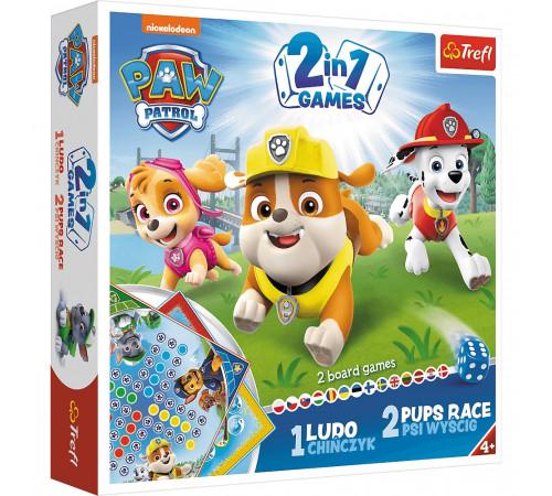 """Jucării pentru Copii - Magazin Online de Jucării ieftine in Chisinau Baby-Boom in Moldova trefl 01896 joc de masa 2-în-1 ludo """"catelus race. paw patrol"""""""