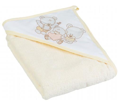 "tega baby Полотенце с капюшоном ""Мишка"" ms-014-119 (80х80 см.) бежевый"