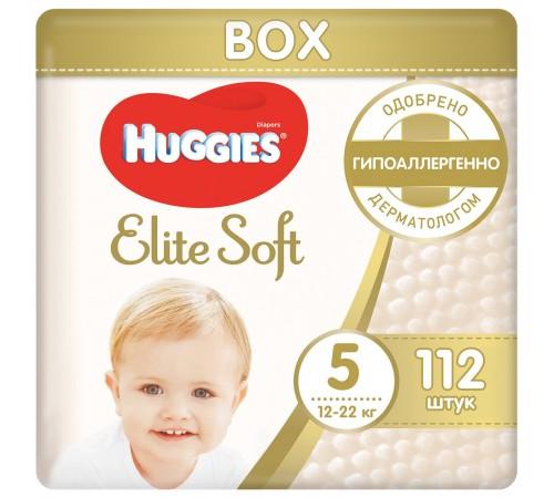 huggies elite soft box 5 (12-22 kg.) 112 buc.