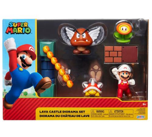 "super mario m400154 set de joc ""lava castle diorama"""