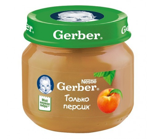gerber Пюре персик 80gr. (4+)