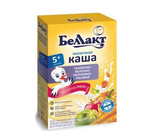 Детское питание в Молдове Беллакт Каша молочная рисовая с тыквой, яблоком и морковью (5m+) 250 гр.