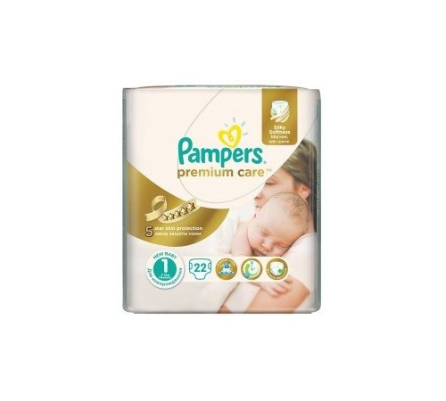 pampers premium care 1 (2-5kg.) 22 buc.