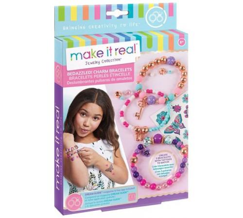 """make it real 1202 Набор для создания шарм-браслетов """"Цветочная фантазия"""""""