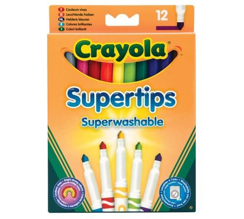 Детскиймагазин в Кишиневе в Молдове crayola 7509 Фломастеры тонкие смываемые supertips (12 шт.)