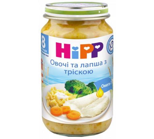 hipp 6550 Лапша с морской рыбой и овощами в сливочном соусе 220 gr.(8m+)