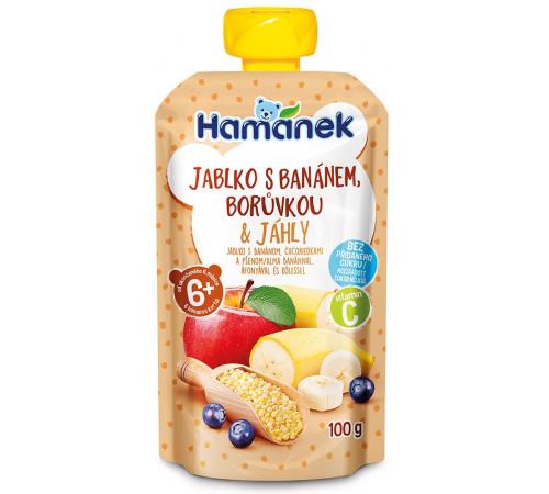 """hame piure """"hamánek"""" mere-banane-afine-mei 100 gr. (6m+)"""