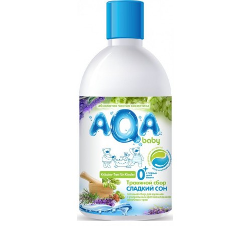 """80.10 aqa baby colectarea de plante pentru scăldat """"somn dulce"""" (300 ml.)"""