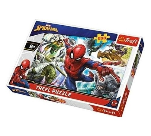 """Детскиймагазин в Кишиневе в Молдове trefl 13235 Пазлы """"Человек-паук. Рожденный быть супергероем """" (200 эл.)"""