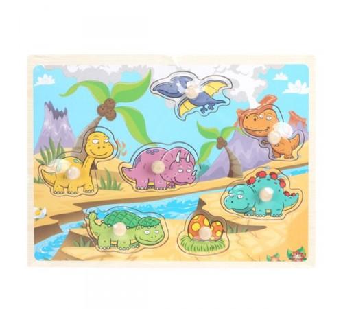 """Детскиймагазин в Кишиневе в Молдове op РЕ06.33 Деревянные пазлы """"Динозавры"""""""