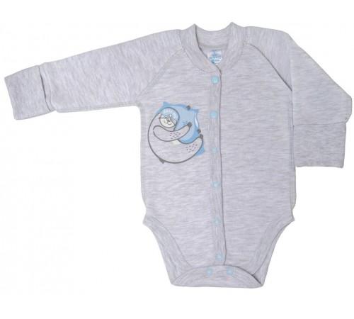 """Одежда для малышей в Молдове veres 102.67-3.74  Боди """"lazy day boy"""" (футер с начёсом) р.74"""
