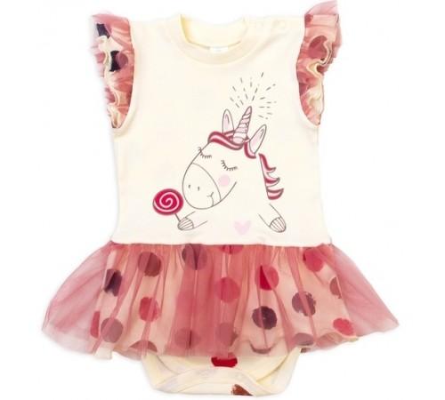 """Одежда для малышей в Молдове veres 102-71.87.68 Боди-платье короткий рукав """"sweet unicorn"""" (р.68)"""