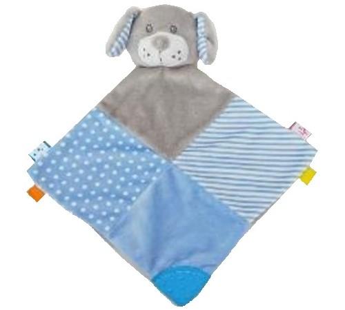 """baby mix stk-19421 bd jucarie de plus """"catelus"""" albastru"""