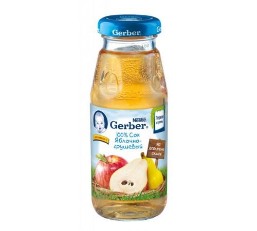 Детское питание в Молдове gerber сок яблочно-грушевый 175мл.(5+)