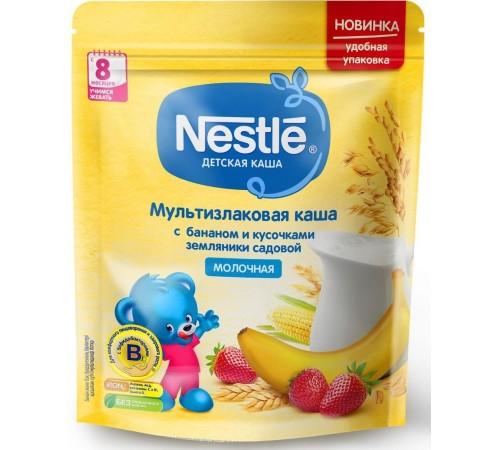 nestle Каша молочная мультизлаковая с бананом и земляникой 220 гр. (8 м+) 12342930