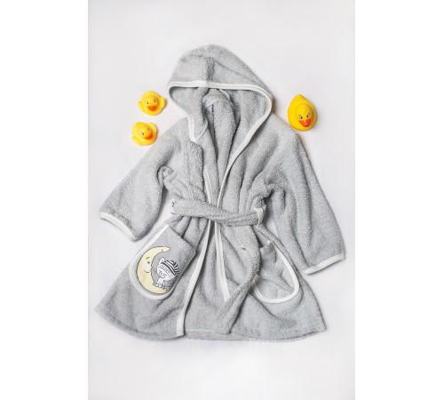 dormi baby  halat de baie pentru copii in sort. (gri/roz/alb)