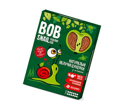 Детское питание в Молдове Натуральные Яблочные Конфеты с Мятой ТМ bob snail (Улитка БОБ), 60 г