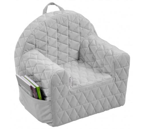 klups Детское кресло velvet kids v102 серый
