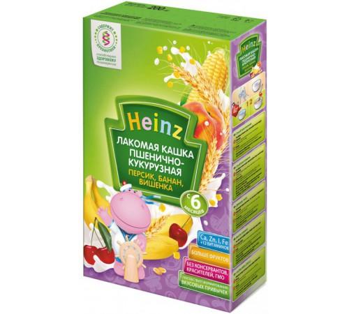 Детское питание в Молдове heinz Лакомая кашка пшенично-кукурузная персик, банан, вишенка (6m+)