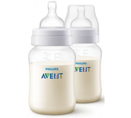 avent scf813/27 sticluta anti-colic 260 ml. (0 +) 2 buc.