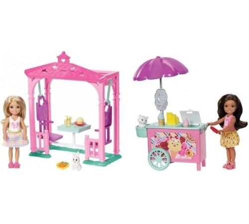 """barbie Игровой набор fdb32 """"Угощение Челси и зверька"""" в асс."""