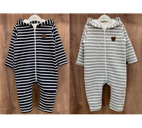Одежда для малышей в Молдове flexi 213744 Комбинезон хлопок теплый для мальчика (р.62-68-75-80) в асс.