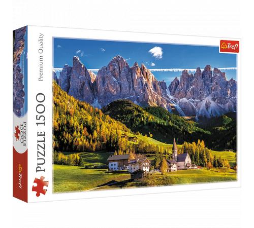 "trefl 26163 puzzle ""valea val di funes, dolomiți, italia"" (1500 el.)"