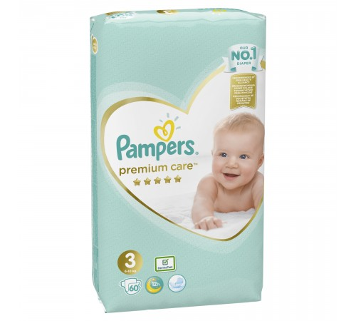 pampers premium care 3 (6-10 кг.) 60 шт.