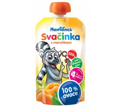 """Детское питание в Молдове hame Пюре """"hamanek"""" Яблоко-Абрикос (4 м+) 120 гр."""