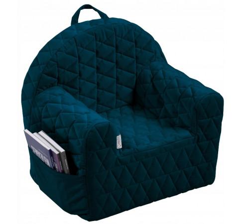 klups Детское кресло velvet v105 тёмно-синий