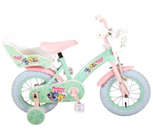 "volare  91265 Велосипед ""woezel & pip 12"" минт/розовый"