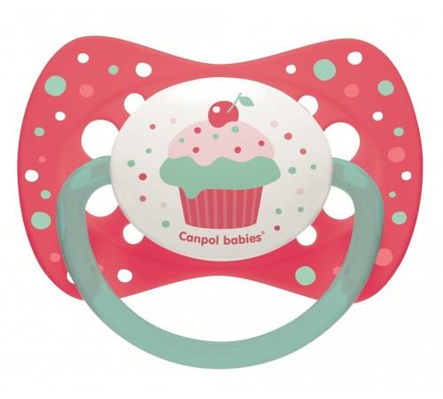 """canpol 23/284 Пустышка силиконовая симметричная """"cupcake"""" (18m+) 1 шт."""