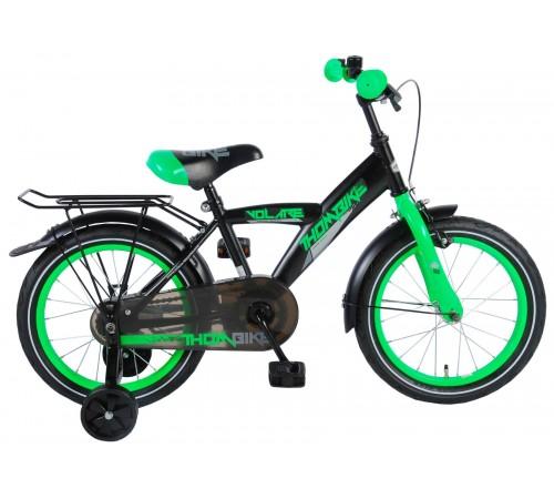 "volare 81619 Велосипед thombike 16"" черный/зелёный"